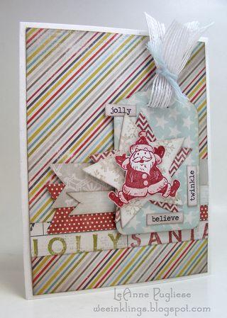 LeAnne Pugliese WeeInklings Vintage Santa CLose to my Heart RetroRubber