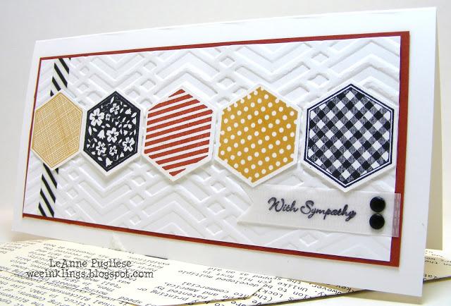 LeAnne Pugliese WeeInklings Six-Sided Sampler Hexagon Sympathy