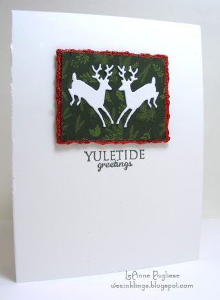LeAnne Pugliese WeeInklings SIP78 Yuletide Greetings Leaping Deer