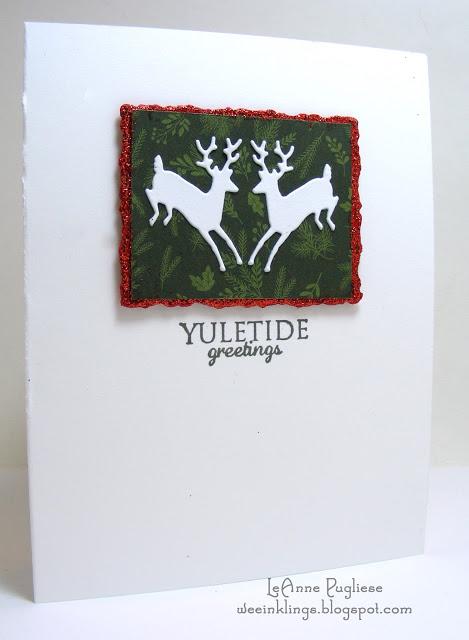 LeAnne Pugliese WeeInklings SIP78 Yuletide Greetings Leaping Deer