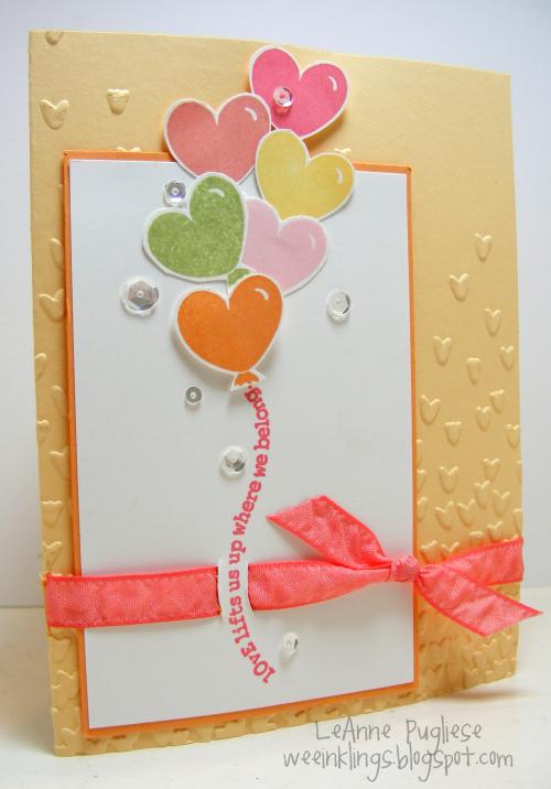 LeAnne Pugliese WeeInklings Retrorubber 55 Heart Balloons