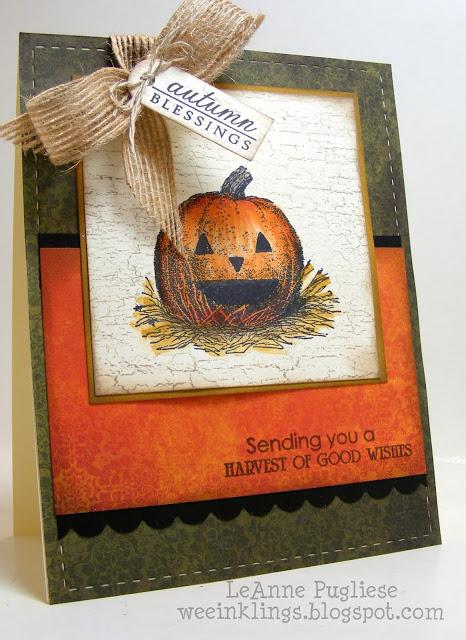 LeAnne Pugliese WeeInklings Autumn Blessings Vintage Pumpkin