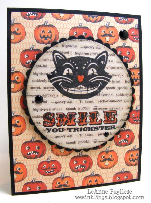 LeAnne Pugliese WeeInklings Smile Trickster Retrorubber