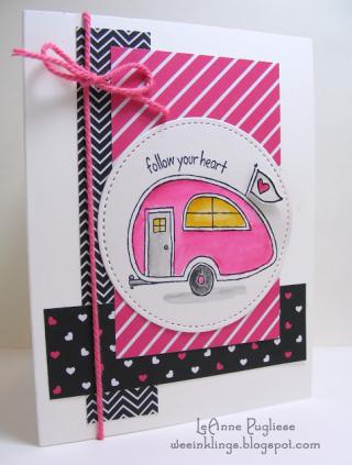 LeAnne Pugliese WeeInklings Follow Your Heart in Pink