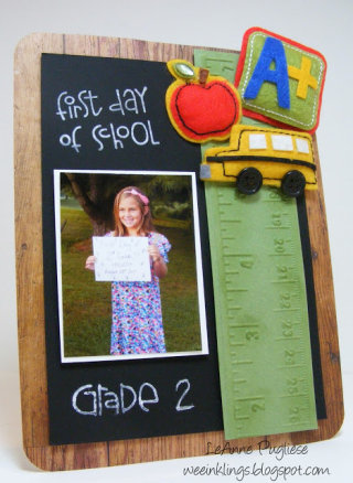 LeAnne Pugliese WeeInklings PP360 Back to School Photo Frame