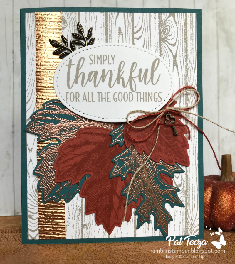 RRCB 124-Stampin Up Thank you cards-Stampin Up Vintage Leaves-Stampin Up Country Home-Stampin Up Thanksgiving cards